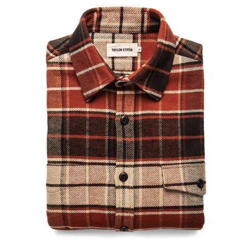 The Crater Shirt in Rust Plaid - featured image
