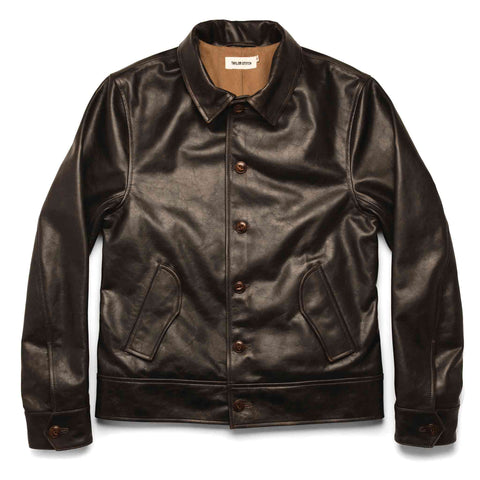 The Cuyama Jacket in Cola Leather - featured image