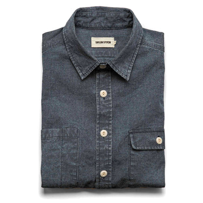 The Moto Utility Shirt in Indigo Pindot: Featured Image