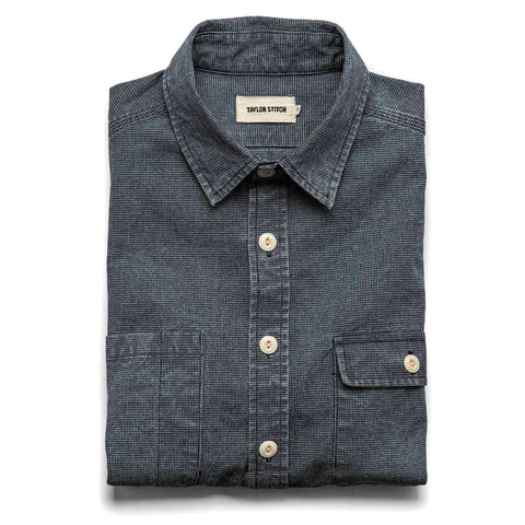 The Moto Utility Shirt in Indigo Pindot - featured image