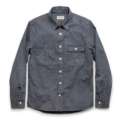 The Moto Utility Shirt in Indigo Pindot: Alternate Image 8