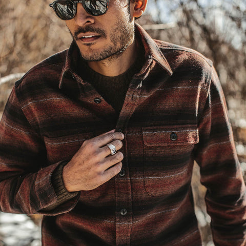 The Moto Utility Shirt in Sunset Stripe - alternate view