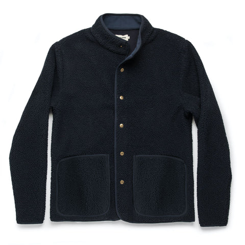 The Port Jacket in Navy Sherpa - featured image