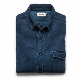 The Cash Shirt in Indigo Sashiko: Featured Image