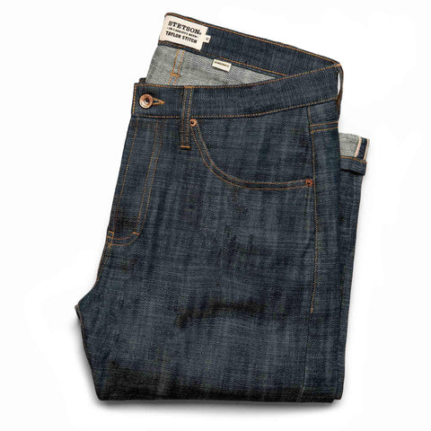 The Democratic Jean in Green Cast Selvage - featured image