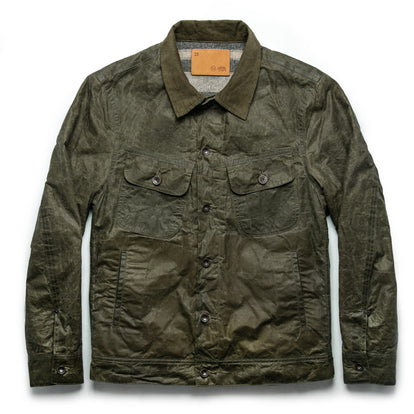 The Lined Long Haul Jacket in Olive Waxed Canvas: Featured Image