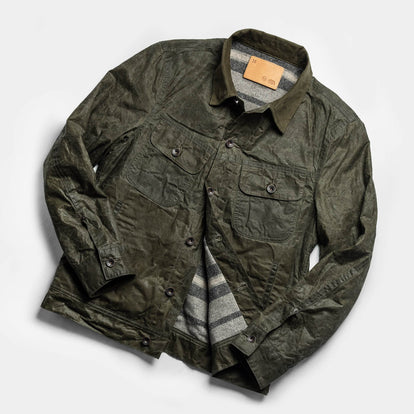 The Lined Long Haul Jacket in Olive Waxed Canvas: Alternate Image 11