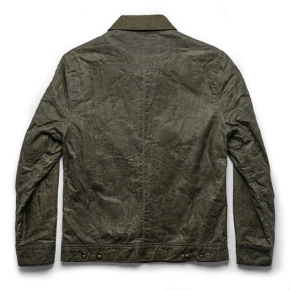 The Lined Long Haul Jacket in Olive Waxed Canvas: Alternate Image 12