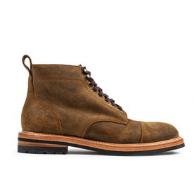 The Moto Boot in Golden Brown Waxed Suede - featured image