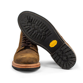 The Moto Boot in Golden Brown Waxed Suede: Alternate Image 7