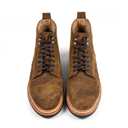 The Moto Boot in Golden Brown Waxed Suede: Alternate Image 9