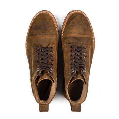 The Moto Boot in Golden Brown Waxed Suede: Alternate Image 10