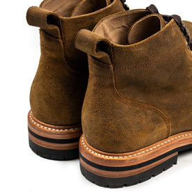 The Moto Boot in Golden Brown Waxed Suede: Alternate Image 11
