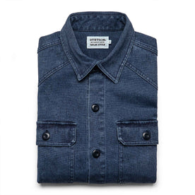 The Shop Shirt in Indigo Boss Duck: Featured Image