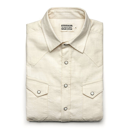 The Western Shirt in Natural Corded Denim: Featured Image