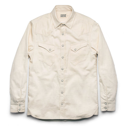 The Western Shirt in Natural Corded Denim: Alternate Image 9