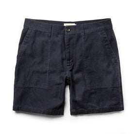 The Trail Short in Navy Slub Sateen - featured image