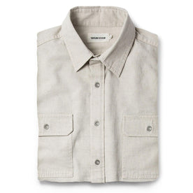 The Chore Shirt in Natural Herringbone - featured image