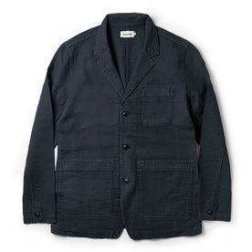 The Emerson Jacket in Navy Double Cloth - featured image