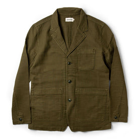 The Emerson Jacket in Olive Double Cloth - featured image