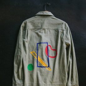 hanging shot of The HBT Jacket by Sam Hart