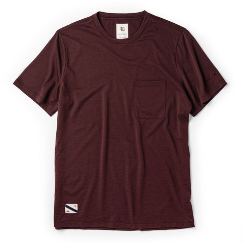 The Merino Tee in Wine - featured image