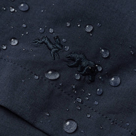 material shot of water beading on fabric