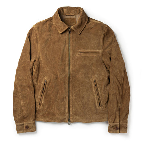The Wyatt Jacket in Cognac Suede - featured image