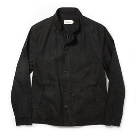 The Bomber Jacket in Black Dry Wax: Featured Image