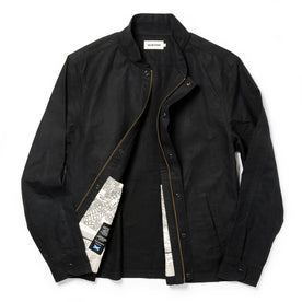 The Bomber Jacket in Black Dry Wax: Alternate Image 11