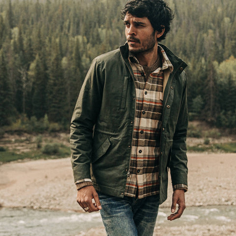 The Harris Jacket in Forest Dry Wax - alternate view
