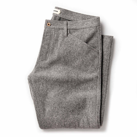 The Camp Pant in Heather Grey Wool - featured image