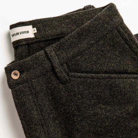 material shot of pant pockets