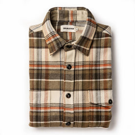 The Crater Shirt in Tan Plaid: Featured Image