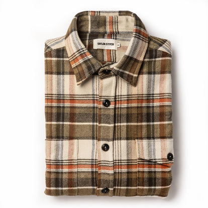 The Crater Shirt in Tan Plaid