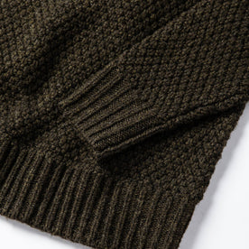 material shot of bottom knit detail