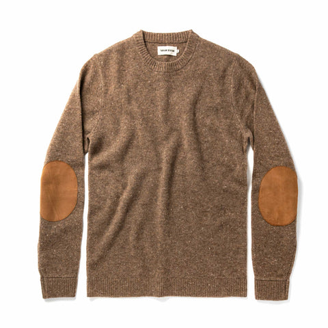 The Hardtack Sweater in Oak Donegal - featured image