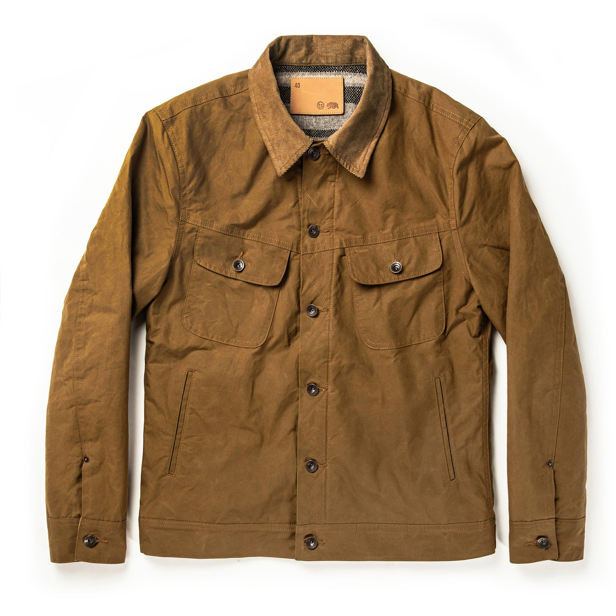 The Lined Long Haul Jacket in Harvest Tan Dry Wax | TS…