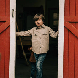 The Little Yosemite Shirt in Oat Donegal - featured image