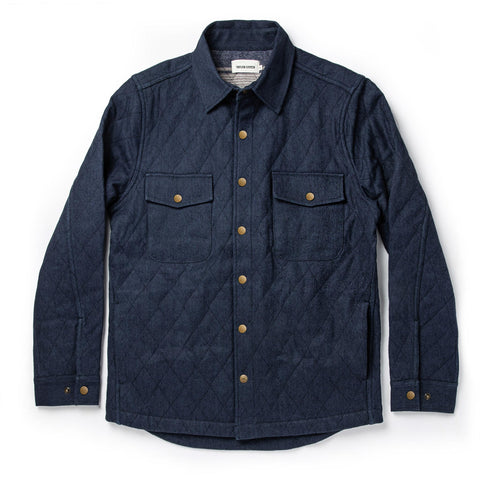 The Quilted Jacket in Indigo Boss Duck - featured image