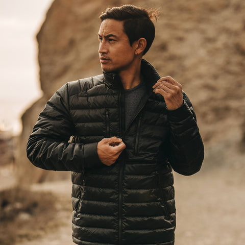 The Taylor Stitch x Mission Workshop Farallon Jacket in Black - alternate view