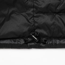 material shot of jacket bottom details