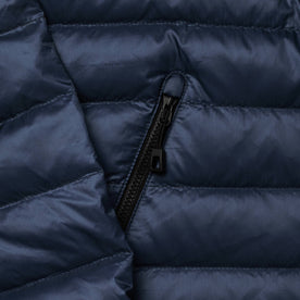 material shot of side zipper