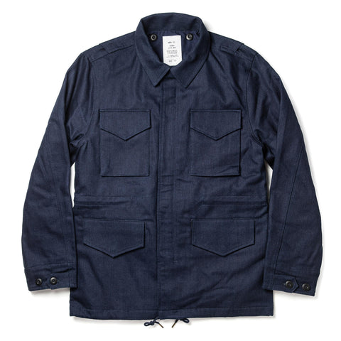 The Taylor Stitch x Alpha Industries M-51 in Indigo Reverse Sateen - featured image
