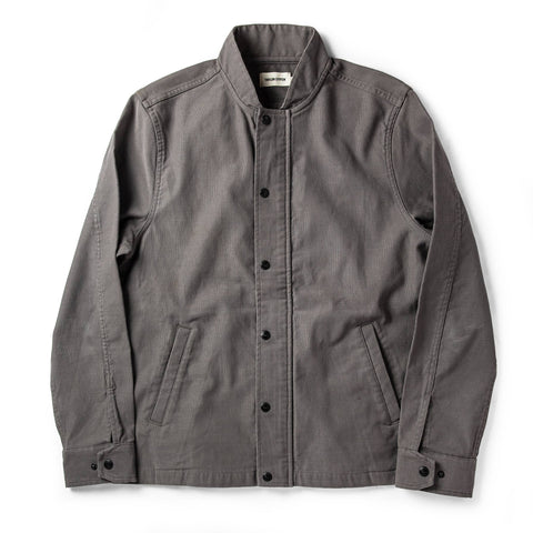 The Bomber Jacket in Charcoal Jungle Cloth - featured image