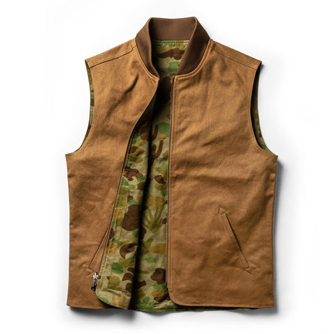 The Taylor Stitch x Gear Patrol Reversible Able Vest in Arid Camo - alternate view