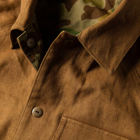 material shot of fabric detail—british khaki side
