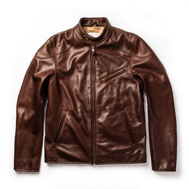 The Band Collar Moto Jacket in Espresso Steerhide - featured image