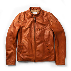 The Band Collar Moto Jacket in Whiskey Steerhide: Featured Image