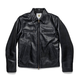 The Moto Jacket in Black Steerhide: Featured Image